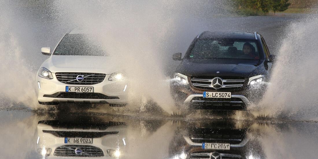 Mercedes GLC 250 d 4Matic, Volvo XC60 D5 AWD, Frontansicht