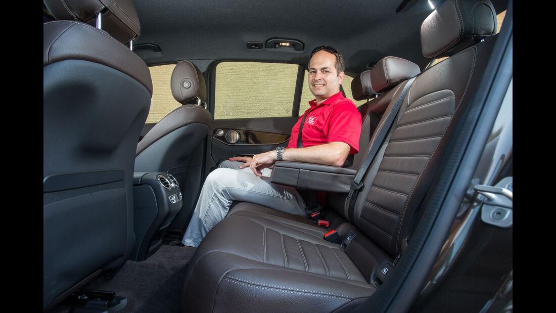 Mercedes GLC 250d 4Matic - Fahrbericht - Kompakt-SUV - Innenraum - Rücksitze