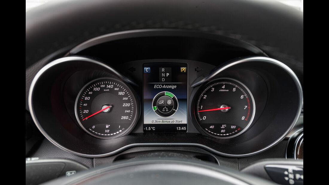 Mercedes GLC 300 4Matic Coupé, Rundinstrumente