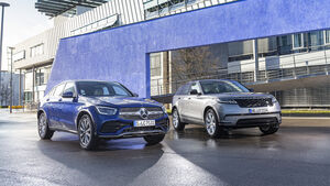 Mercedes GLC 300 Coupé, Range Rover Velar P250, Exterieur