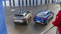 Mercedes GLC 300 Coupé, Range Rover Velar P250, Exterieur