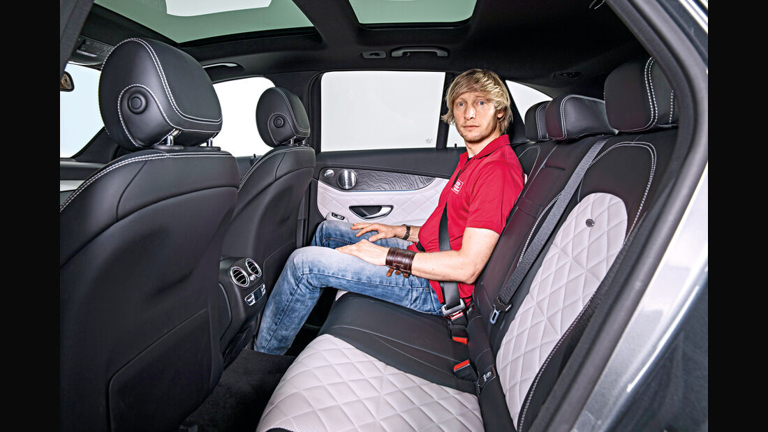 Mercedes GLC, Fondsitze, Beinfreiheit