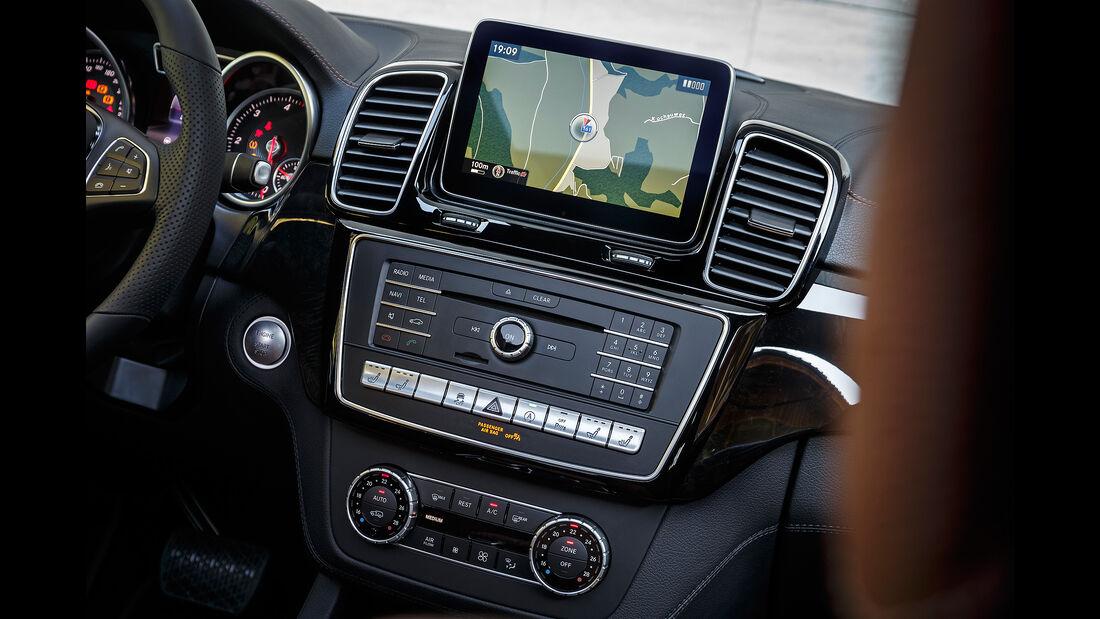 Mercedes GLE 350 d 4Matic Coupé, Cockpit, Mittelkonsole, Display