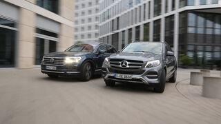 Mercedes GLE 350 d 4Matic, VW Touareg 3.0 TDI V6, Exterieur