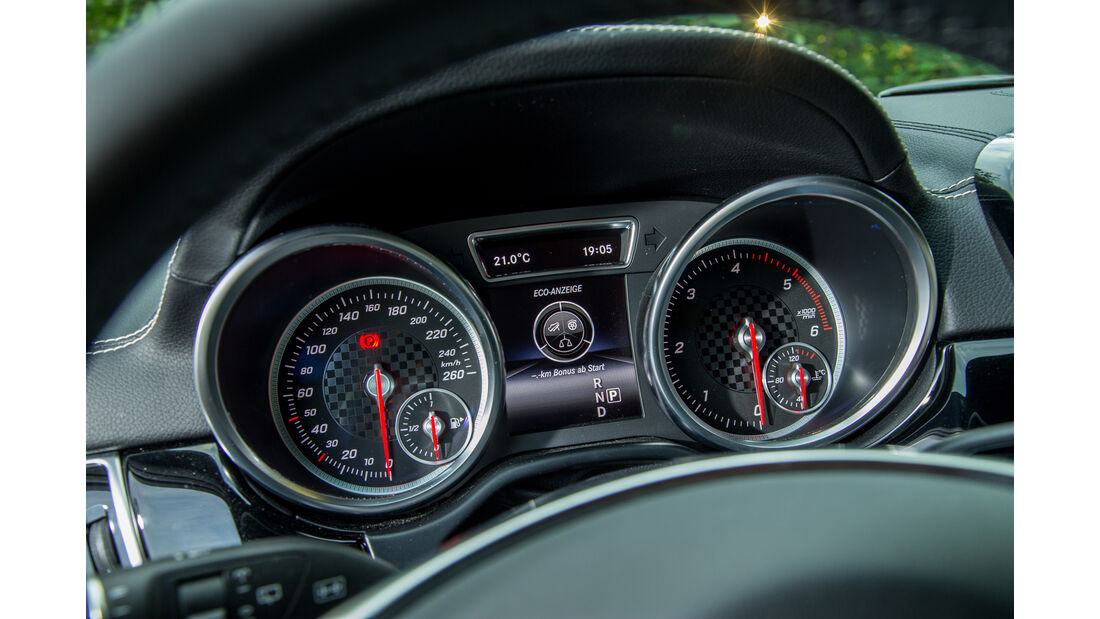 Mercedes GLE 350 d, Rundinstrumente