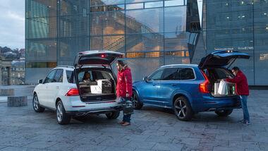 Mercedes GLE 500e, Volvo XC90 T8, Kofferraum
