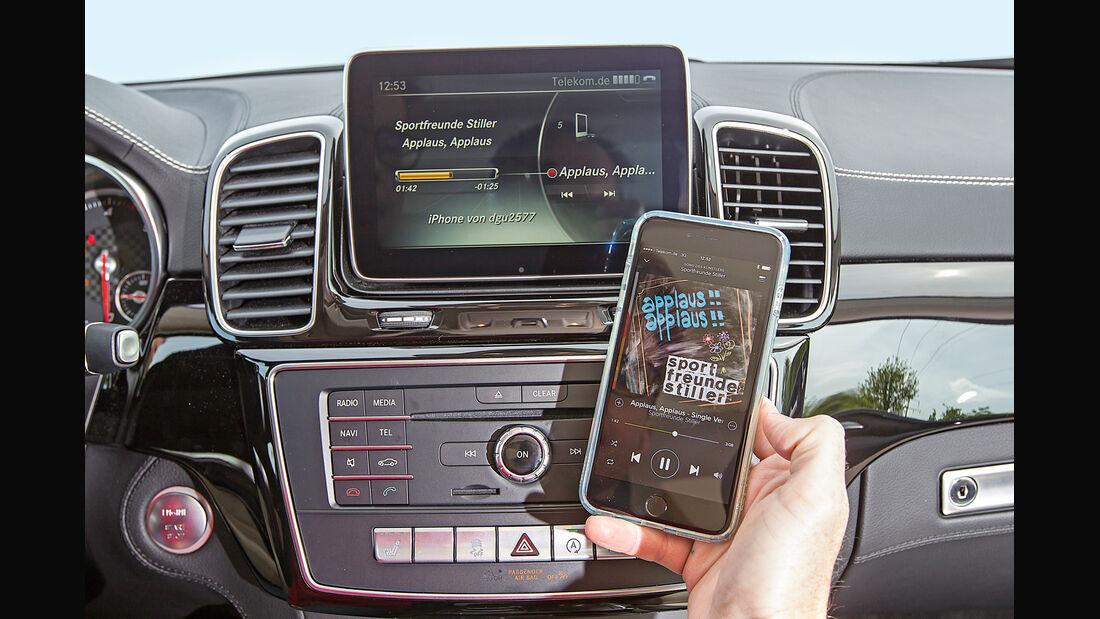 Mercedes GLE, Handyanbindung, Infotainment