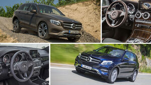 Mercedes GLE vs GLC