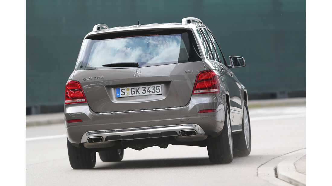 Mercedes GLK 200 CDI, Heckansicht