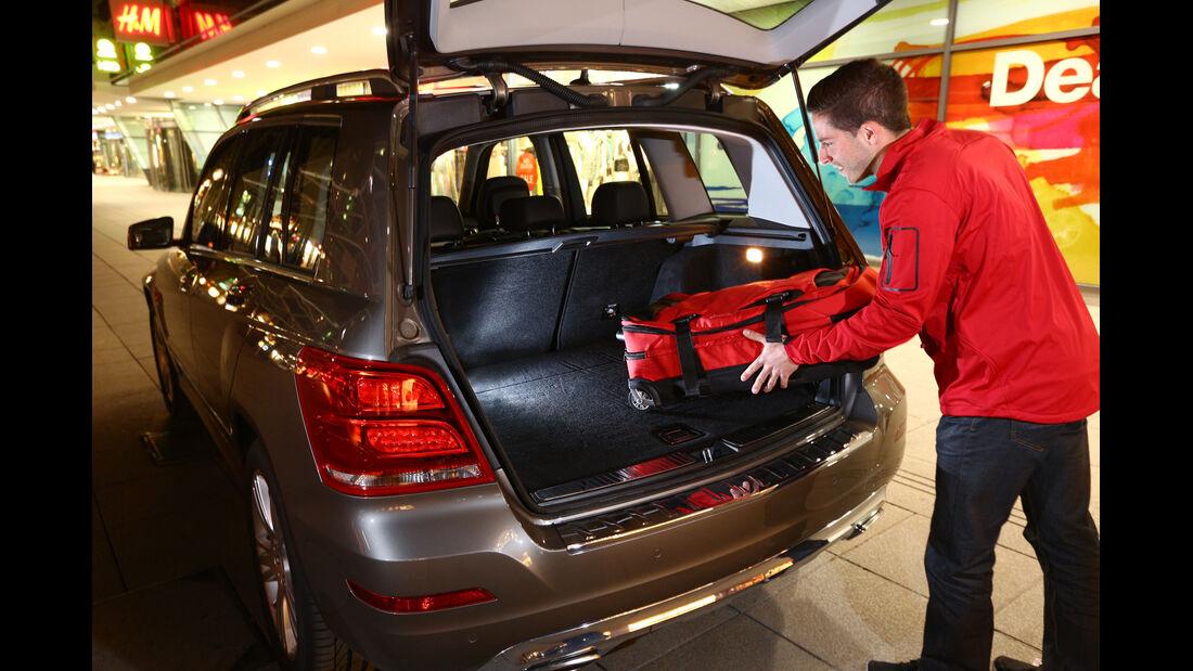 Mercedes GLK 200 CDI, Kofferraum, Beladen