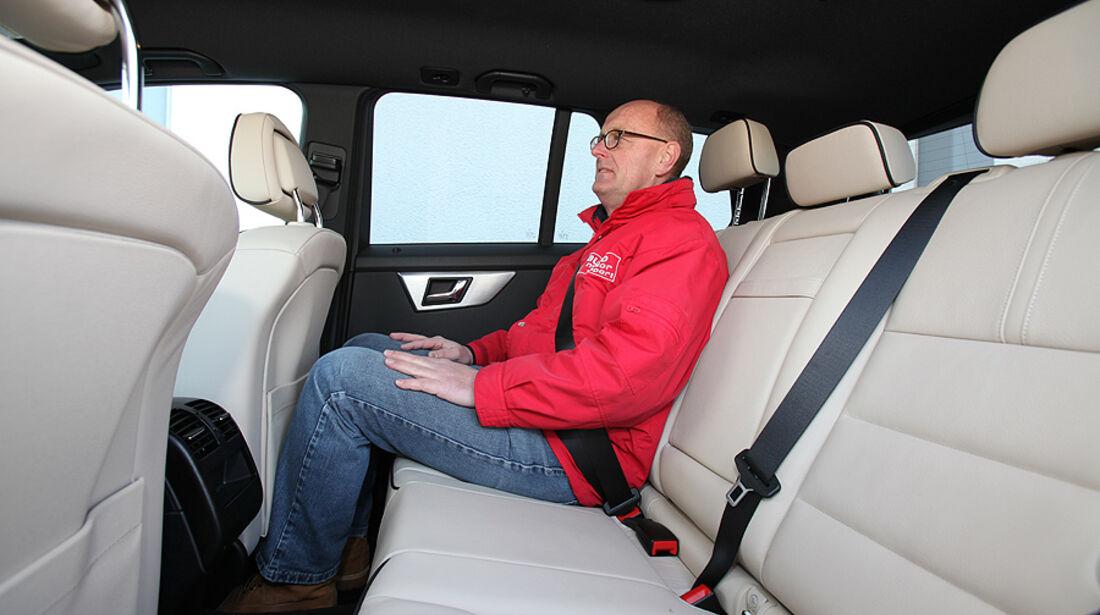 Mercedes GLK 200 CDI, Rücksitze