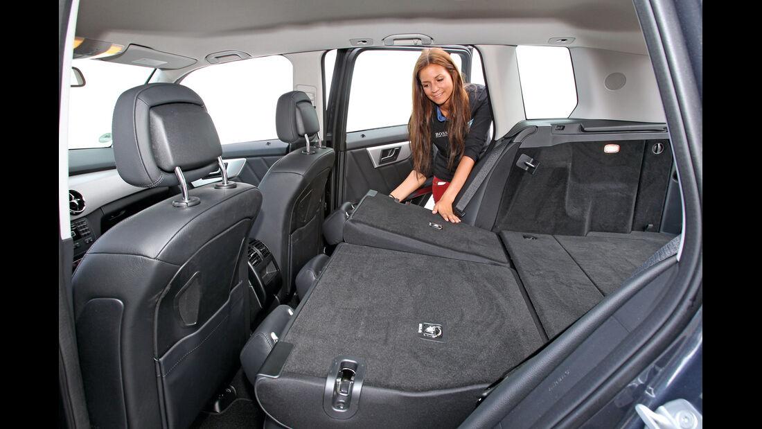 Mercedes GLK 220 CDI Bluetec,  Rückbank, umklappen, Ladefläche