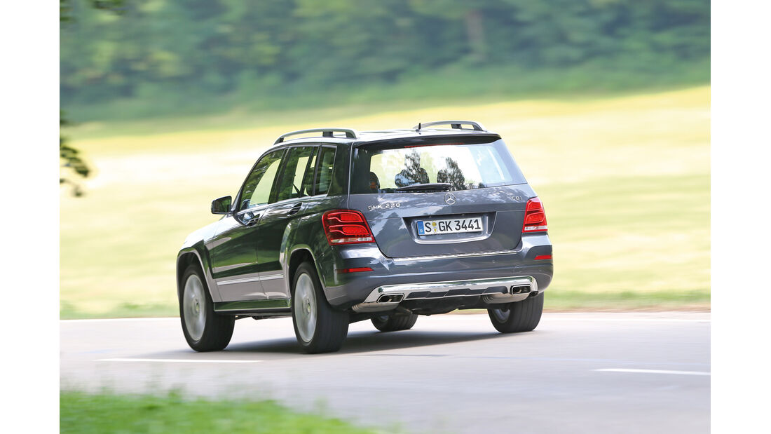 Mercedes GLK 220 CDI, Heckansicht