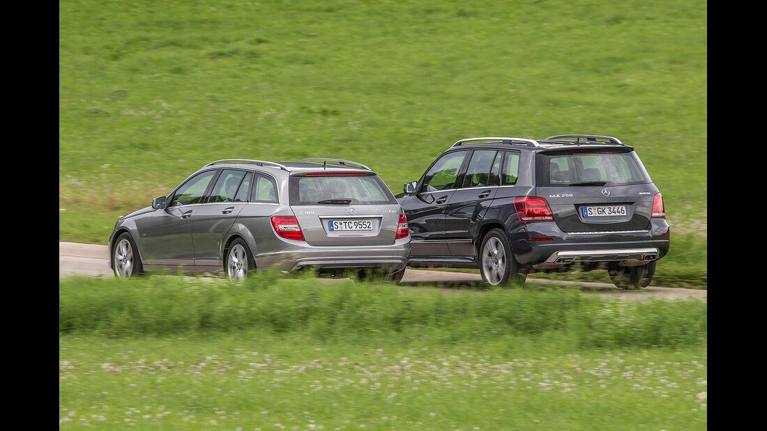 Mercedes GLK 220 CDI, Mercedes  C 220 CDI T, Heckansicht