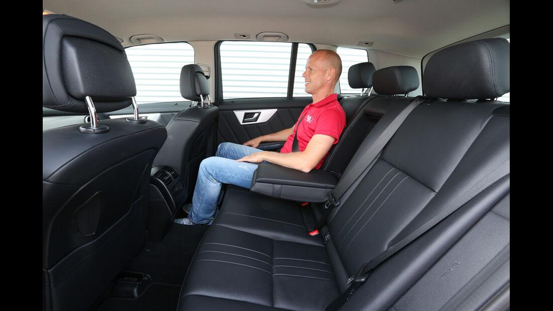 Mercedes GLK 220 CDI, Rücksitz, Beinfreiheit