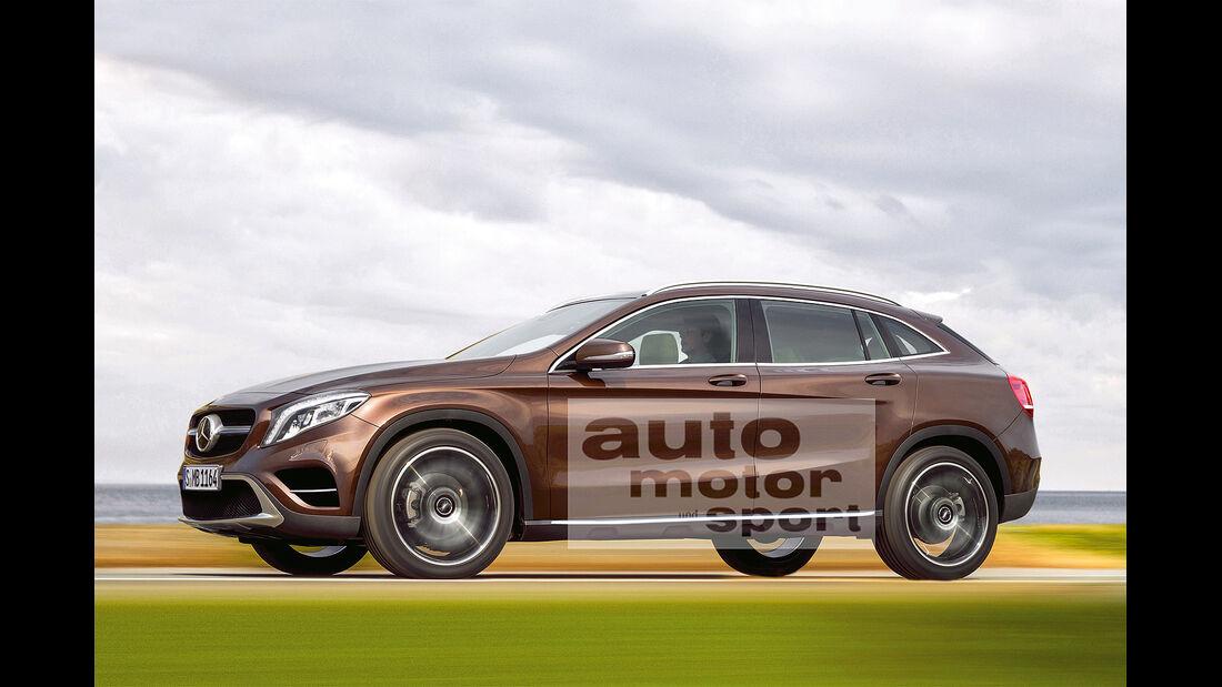 Mercedes GLK Coupé, Seitenansicht