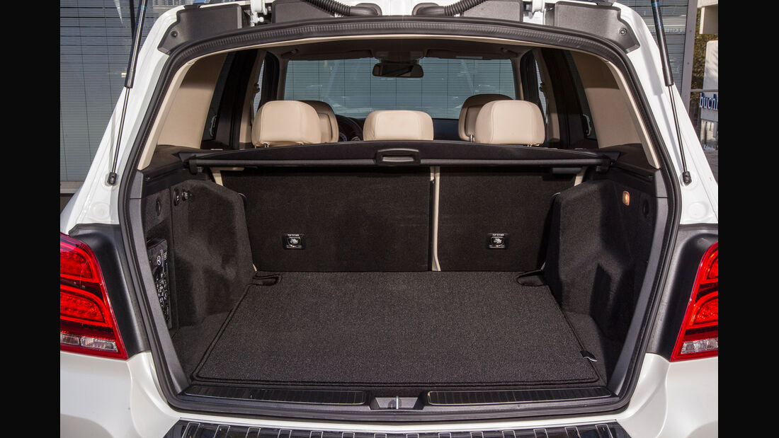Mercedes GLK, Kofferraum, Laderaum
