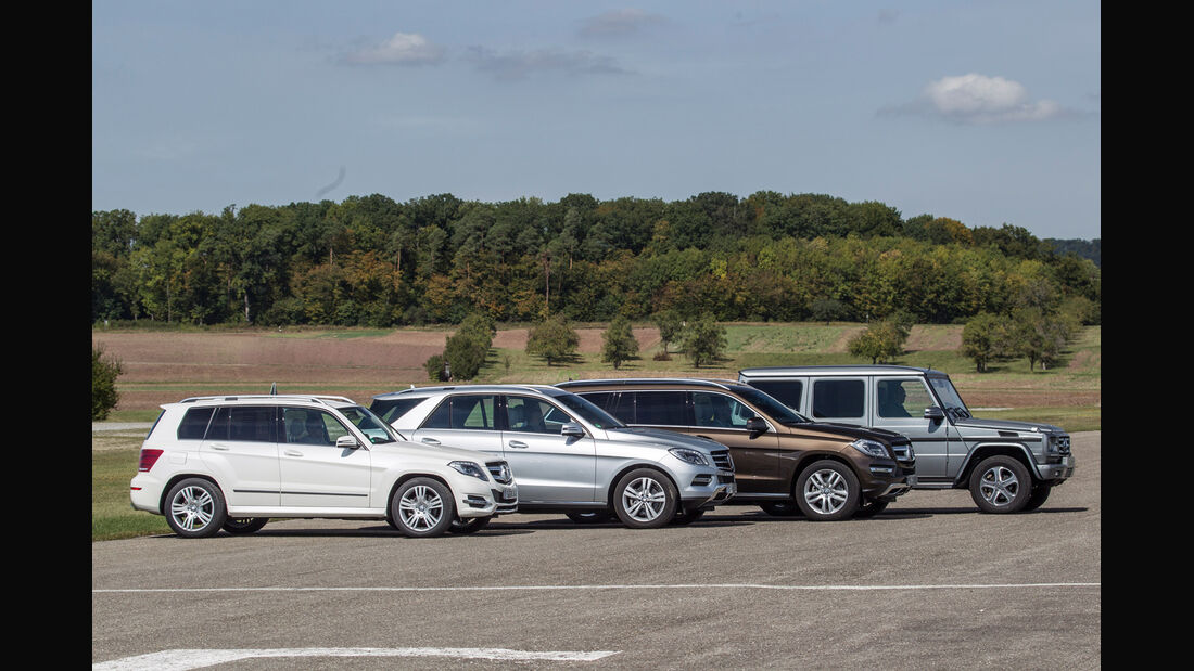 Mercedes GLK, Mercedes ML, Mercedes GL, Mercedes G