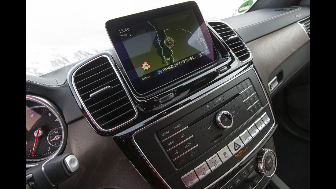 Mercedes GLS, Fahrbericht, Boardcomputer