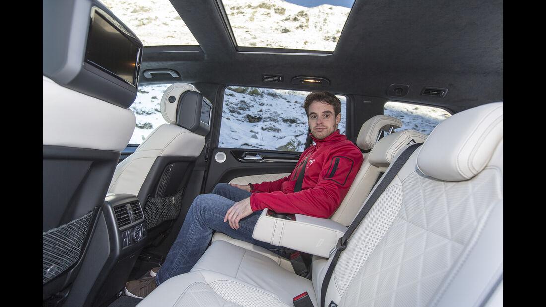 Mercedes GLS, Fahrbericht, Fond