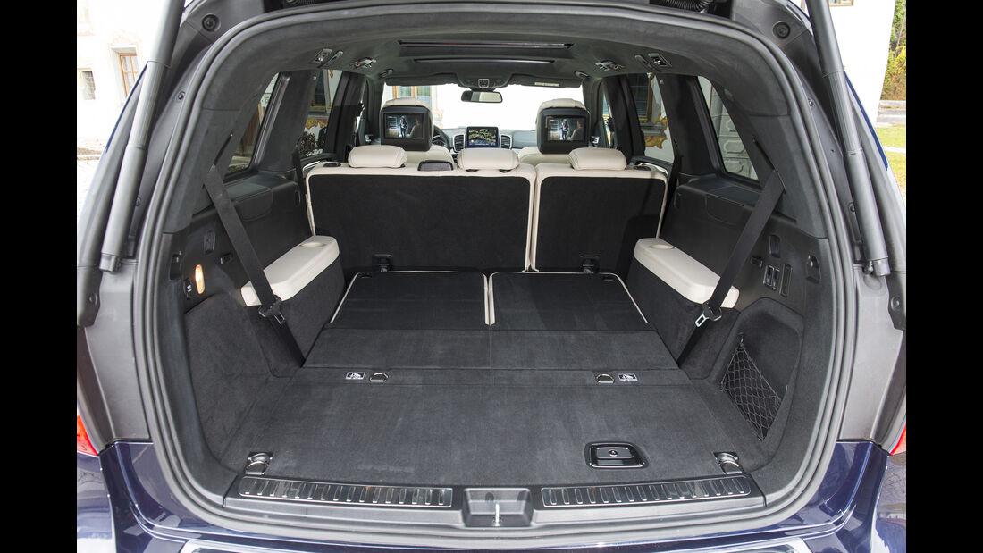 Mercedes GLS, Fahrbericht, Kofferraum