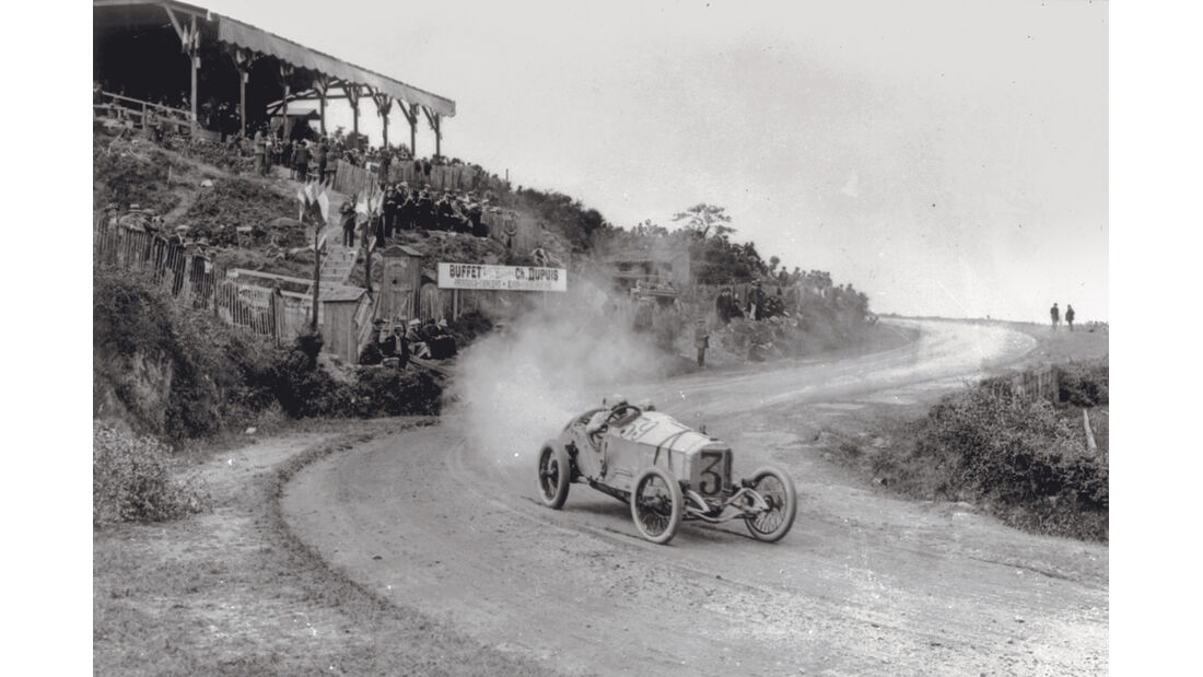 Mercedes GP 1914, Rennszene