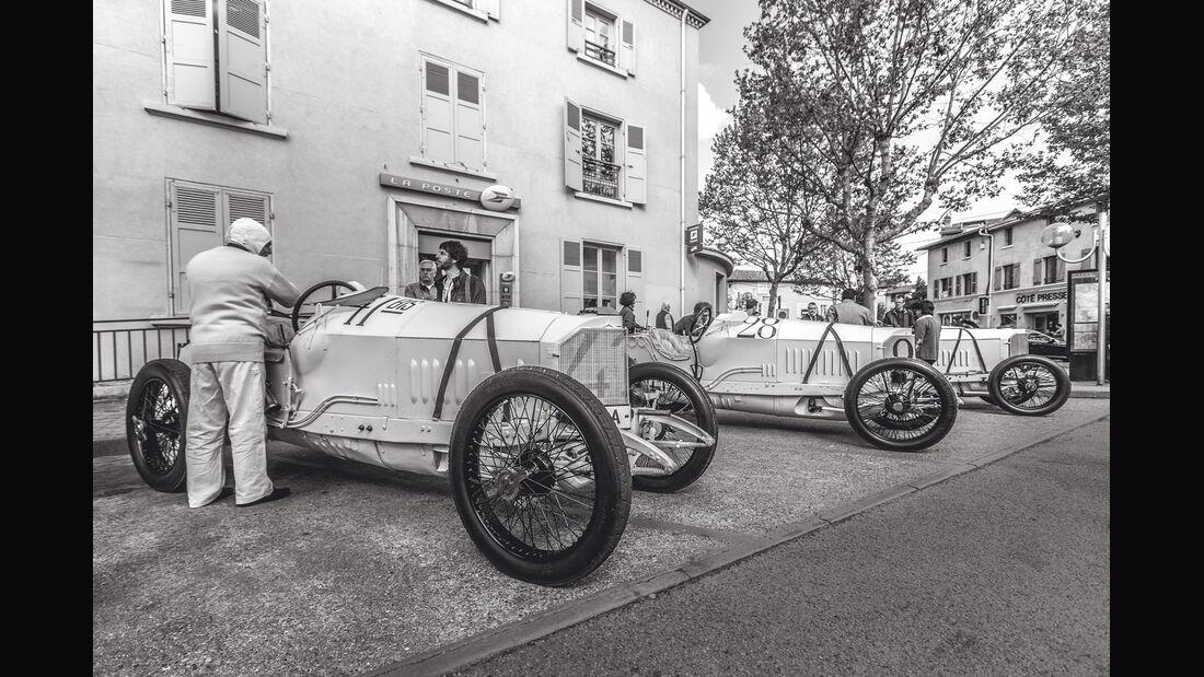 Mercedes GP 1914, Seitenansicht