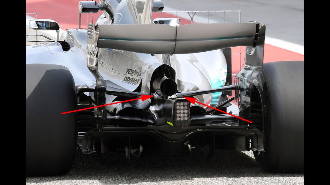 Mercedes - GP Bahrain - Technik - Formel 1 - 2017
