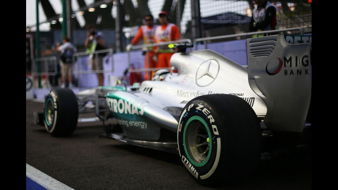 Mercedes GP Singapur - Pirelli Reifen