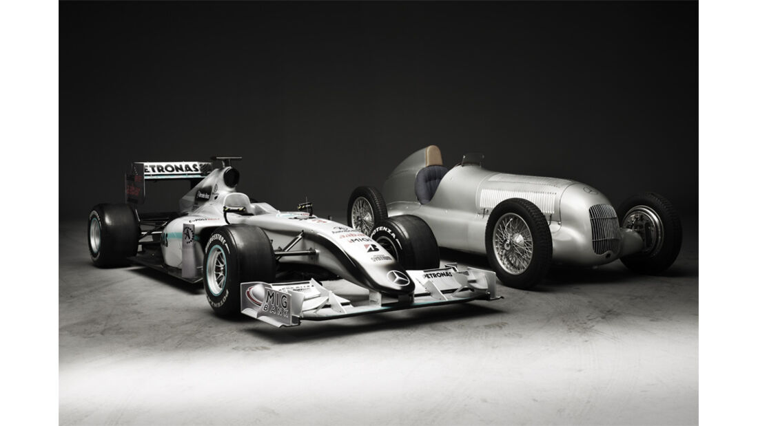 Mercedes GP W01 vs. W25