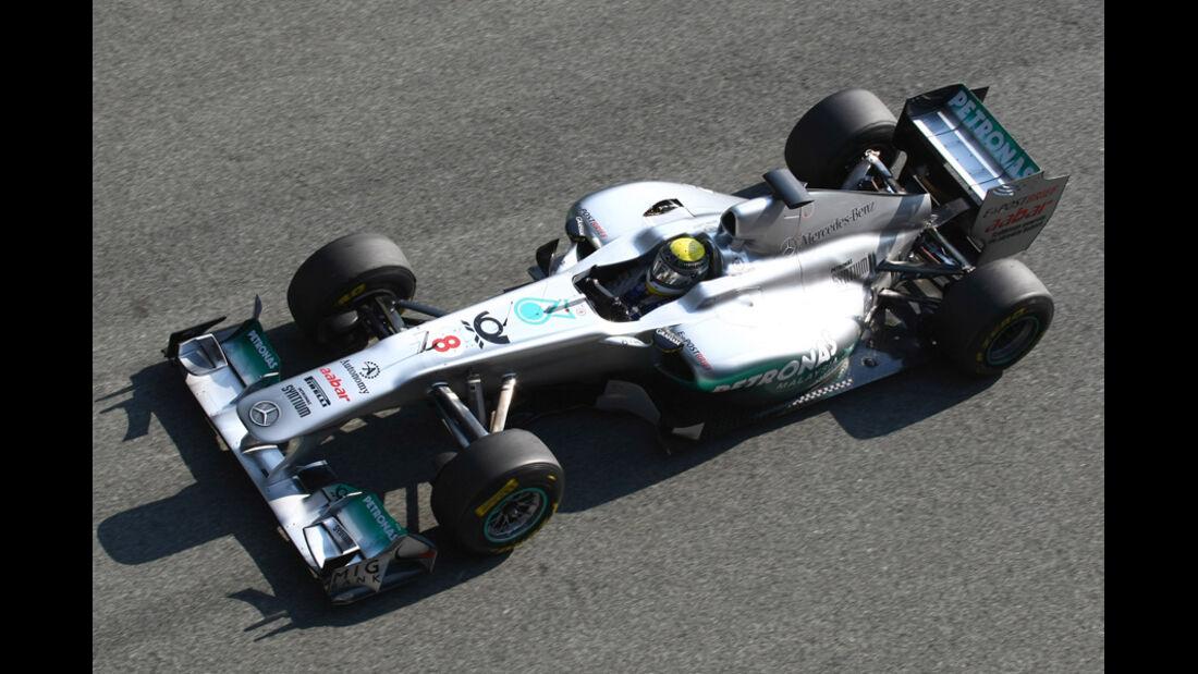 Mercedes GP W02 Rosberg Test 2011