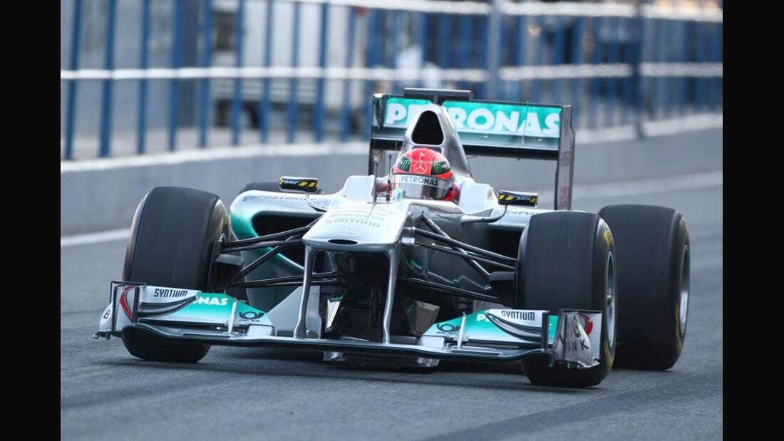 Mercedes GP W02 Schumacher Test 2011