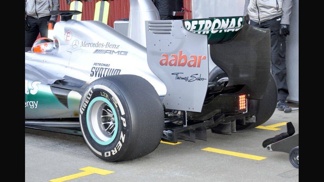 Mercedes GP W03 2012 Test Barcelona