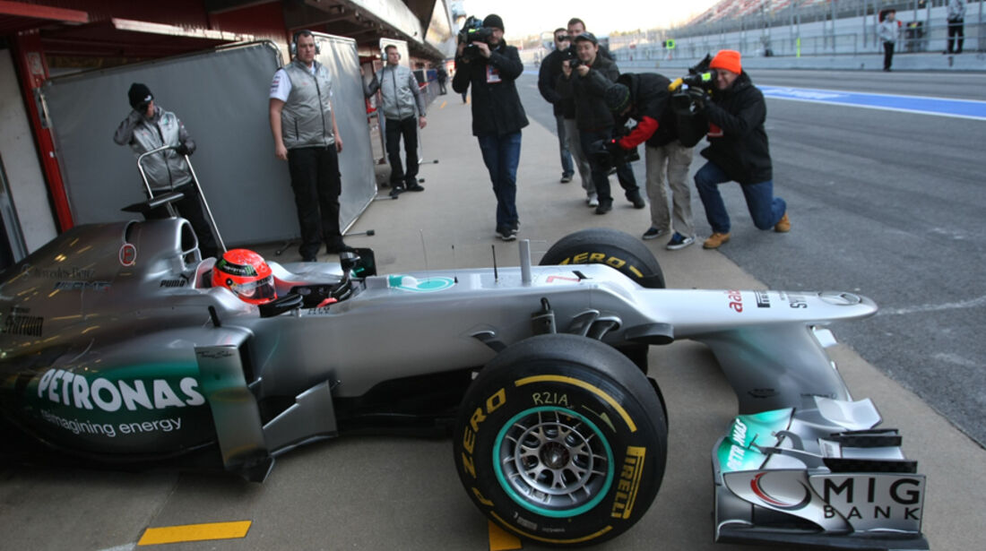 Mercedes GP W03 2012 Test Barcelona