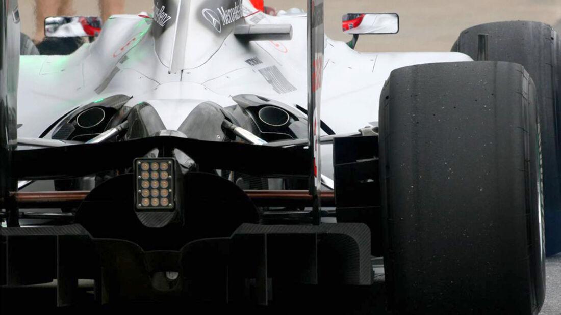 Mercedes GP beim GP Kanada