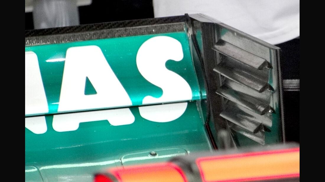 Mercedes Heckflügel F-Schacht GP Malaysia 2012