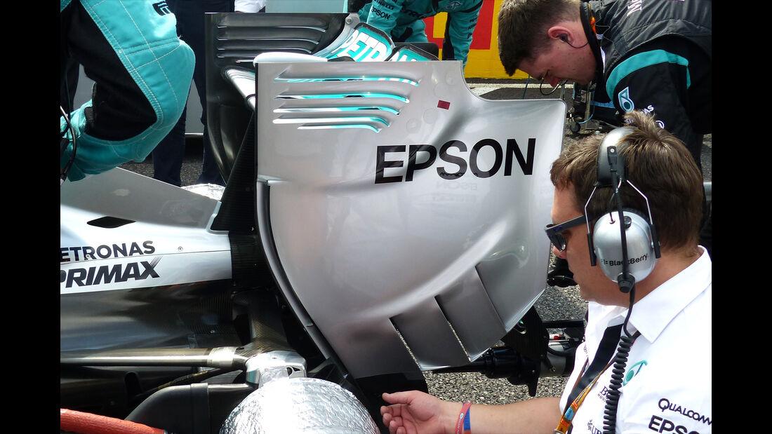Mercedes - Heckflügel - F1 Technik - GP Japan 2015