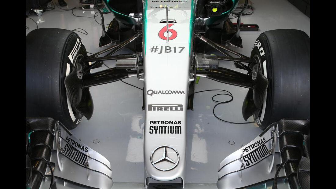 Mercedes - Jules Bianchi-Aufkleber - GP Ungarn 2015