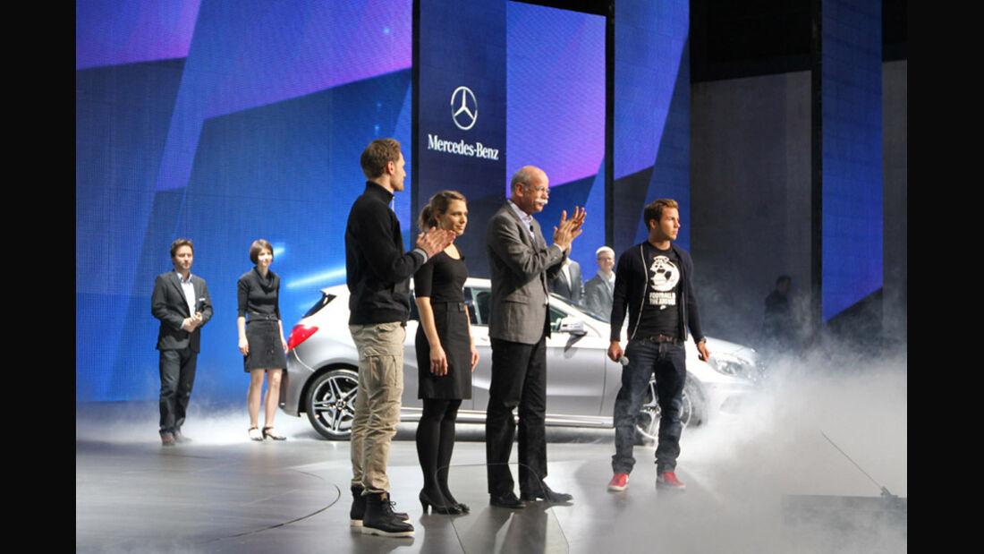 Mercedes Konzernabend Auto-Salon Genf 2012 Premiere A-Klasse, Designer, Zetsche