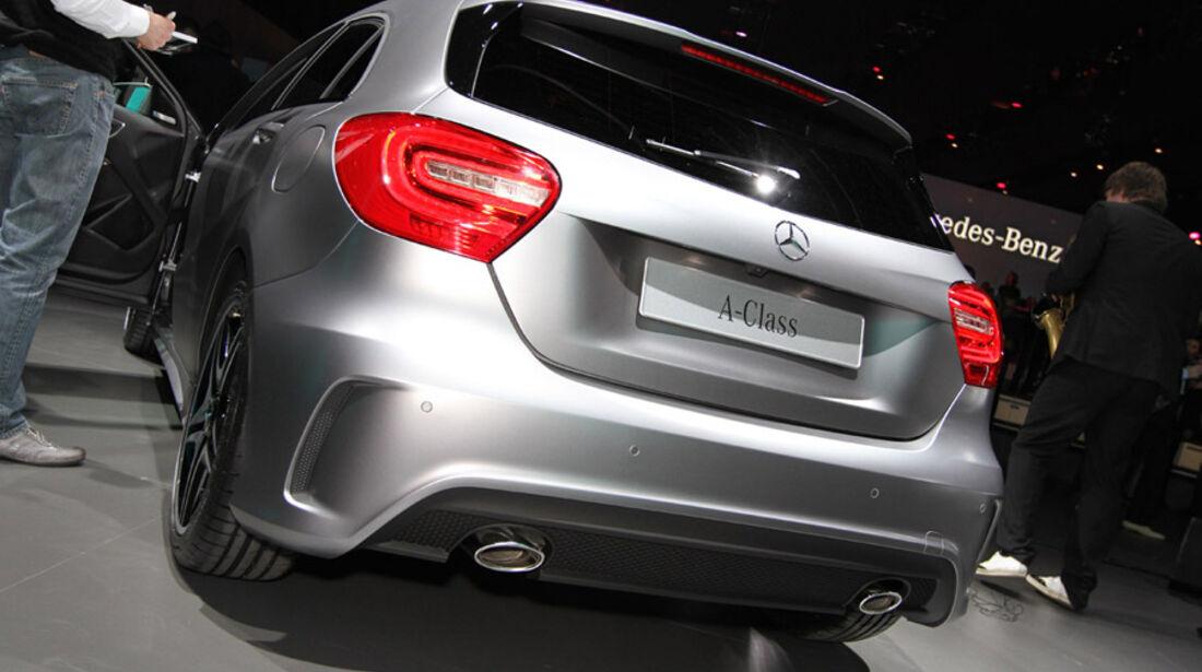 Mercedes Konzernabend Auto-Salon Genf 2012 Premiere A-Klasse Heckansicht
