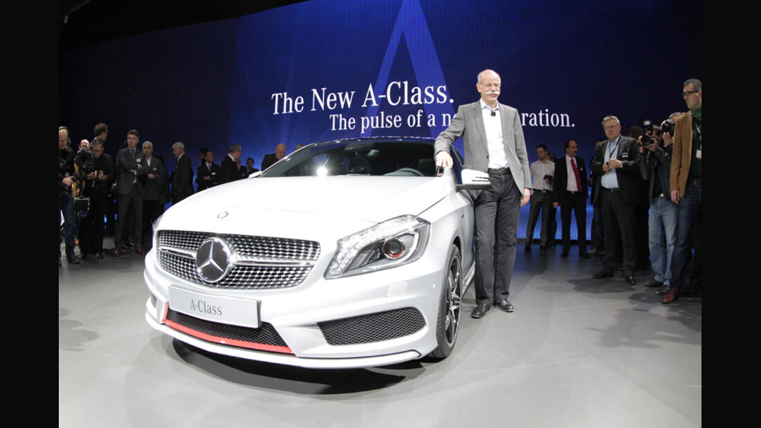 Mercedes Konzernabend Auto-Salon Genf 2012 Premiere A-Klasse Zetsche