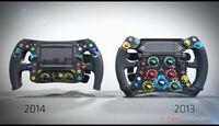 Mercedes-Lenkrad 2013 & 2014 - Piola F1