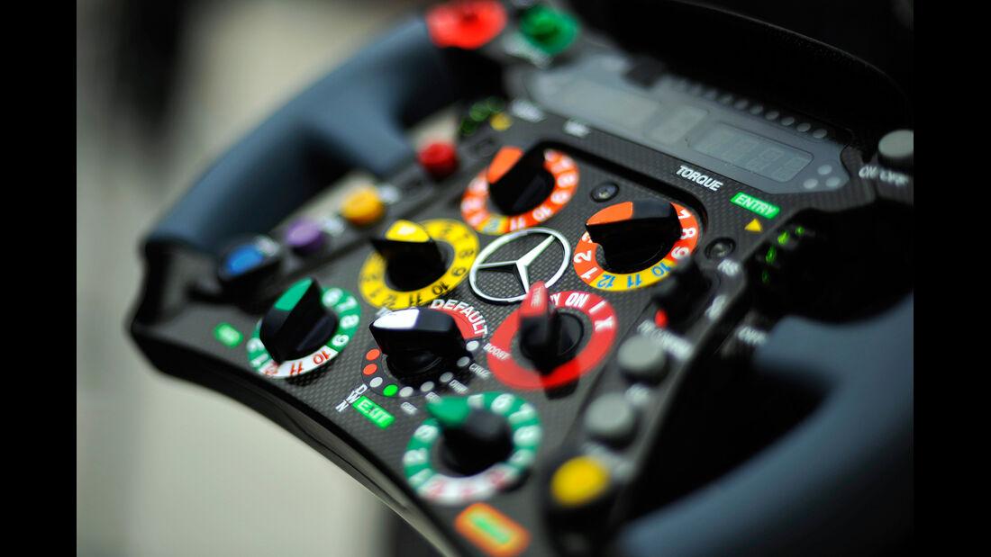 Mercedes-Lenkrad - Formel 1 - GP USA - Austin - 15. November 2012