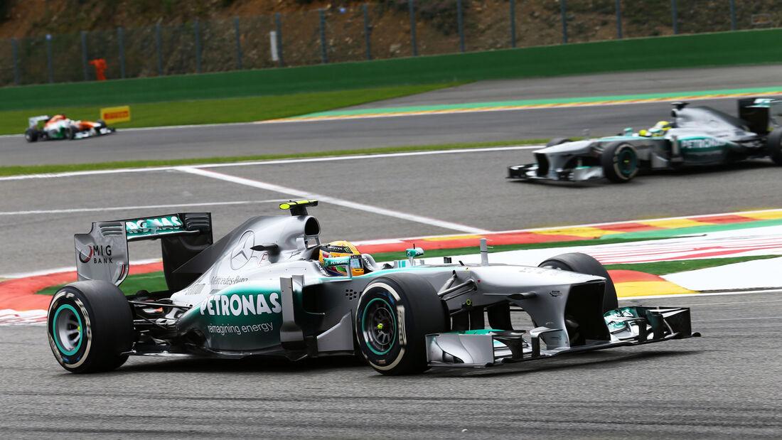 Mercedes Lewis Hamilton GP Belgien 2013
