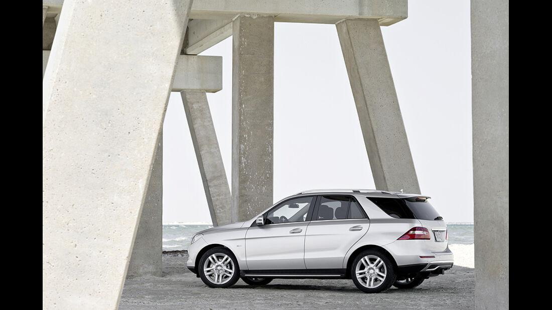 Mercedes M-Klasse, Seite, Heck