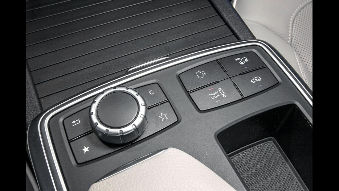 Mercedes ML 250, Bedienelemente, Mittelkonsole