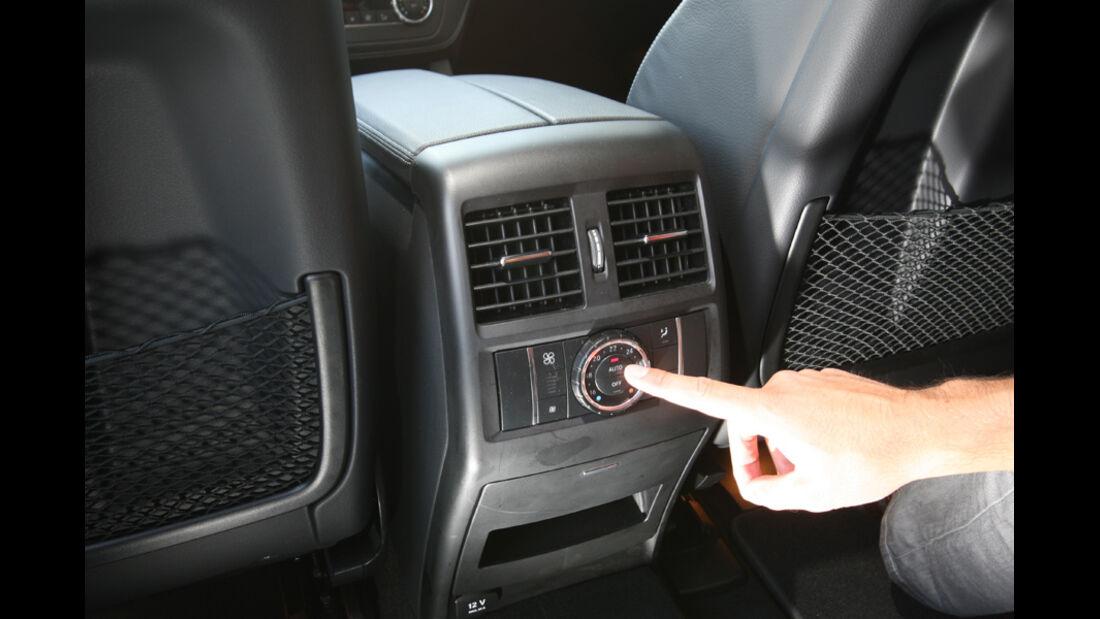 Mercedes ML 250 Bluetec 4-matic, Belüftung, Fond