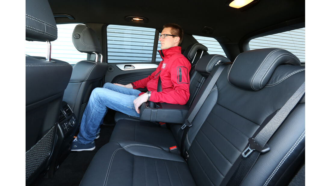 Mercedes ML 250 Bluetec 4Matic, Fondsitz, Beinfreiheit