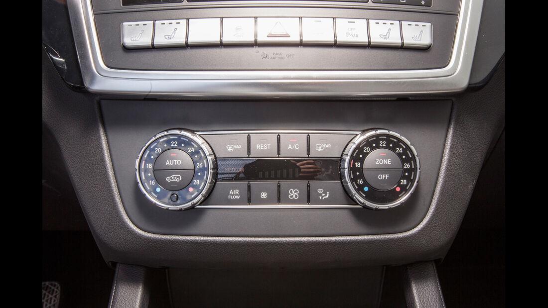 Mercedes ML 250, Mittelkonsole