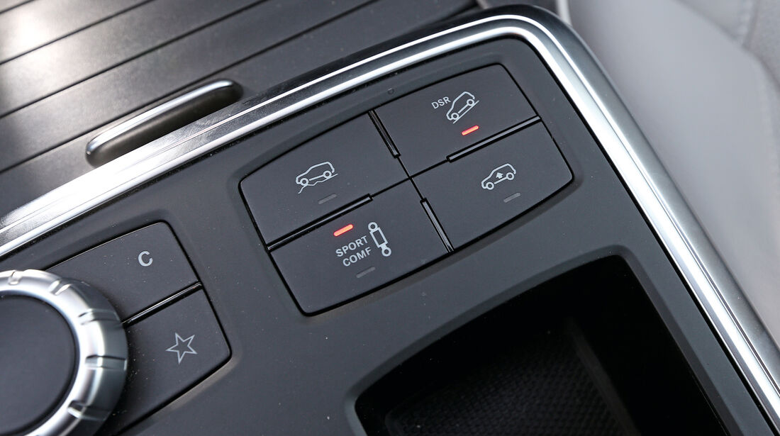 Mercedes ML 350 Bluetec, Bedienelemente